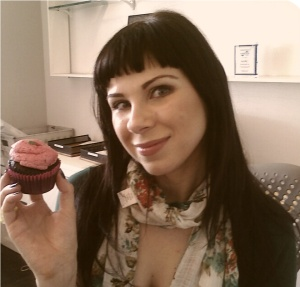 What a surprise: Another picture of me with a sweet treat.