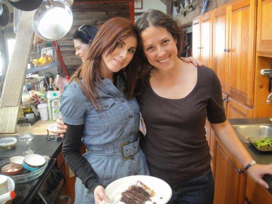 Jenny & I at my birthday celebration a year ago at the farm....