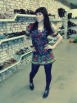 Darwin Animal Doctors Bake Sale at MooShoes, NYC. Vintage Tunic top (worn as a dress). New Shoes: MooShoes!